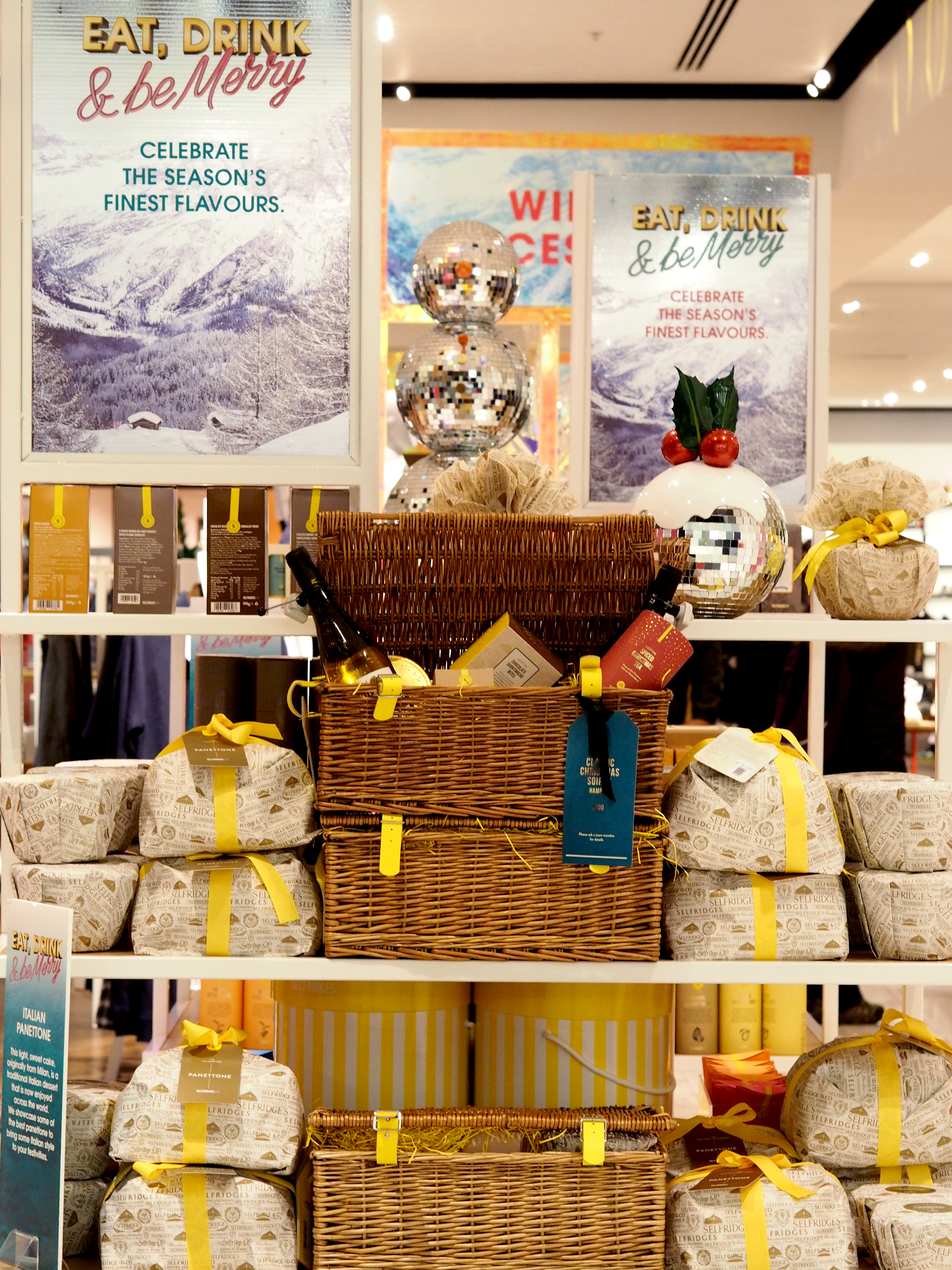 CHRISTMAS HAMPERS MANCHESTER EXCHANGE SELFRIDGES