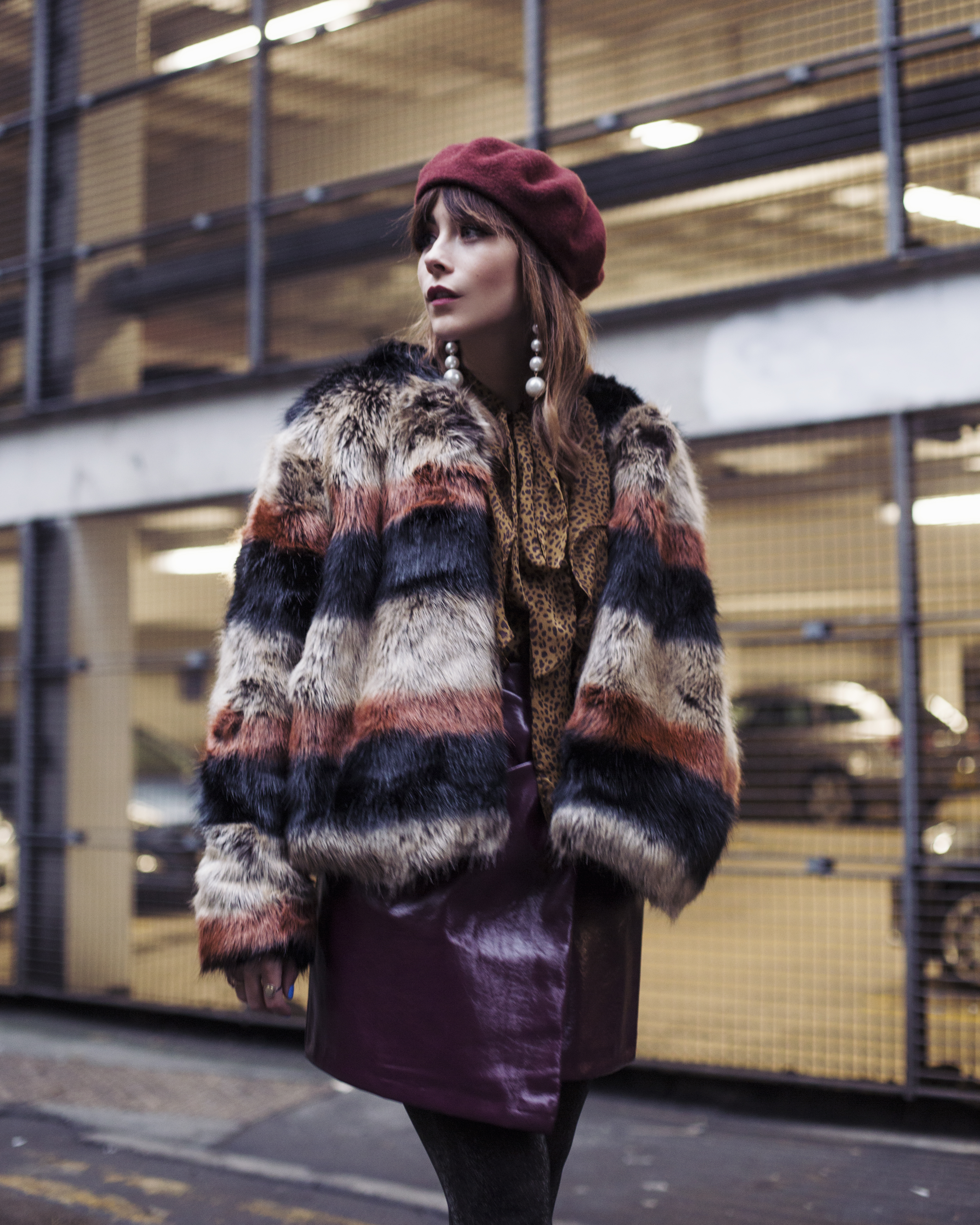 HOW TO STYLE OTT FAUX FUR COAT