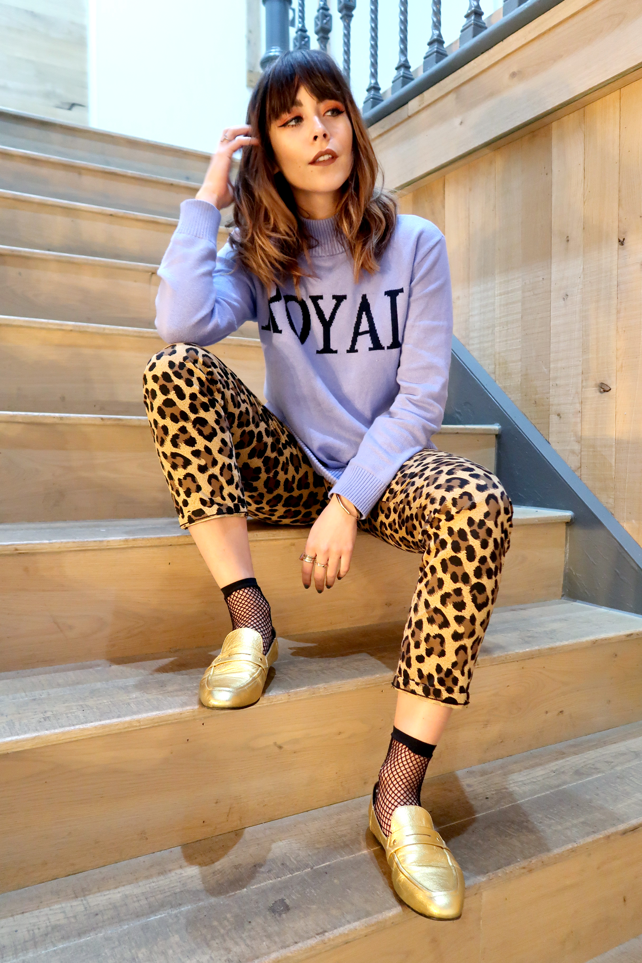 How to wear leopard print trousers