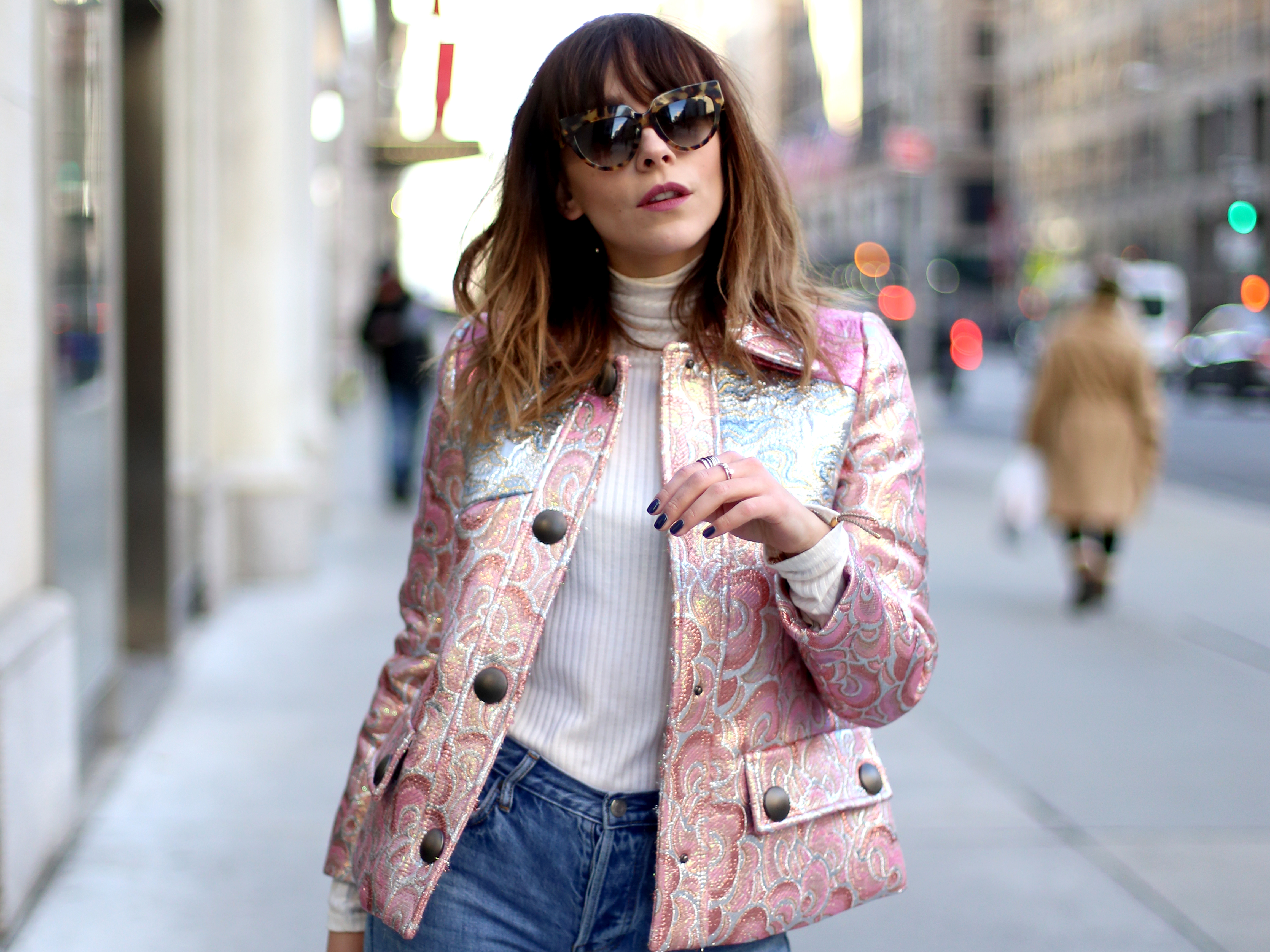 HOW TO WEAR A METALLIC PINK FOR DAYWEAR