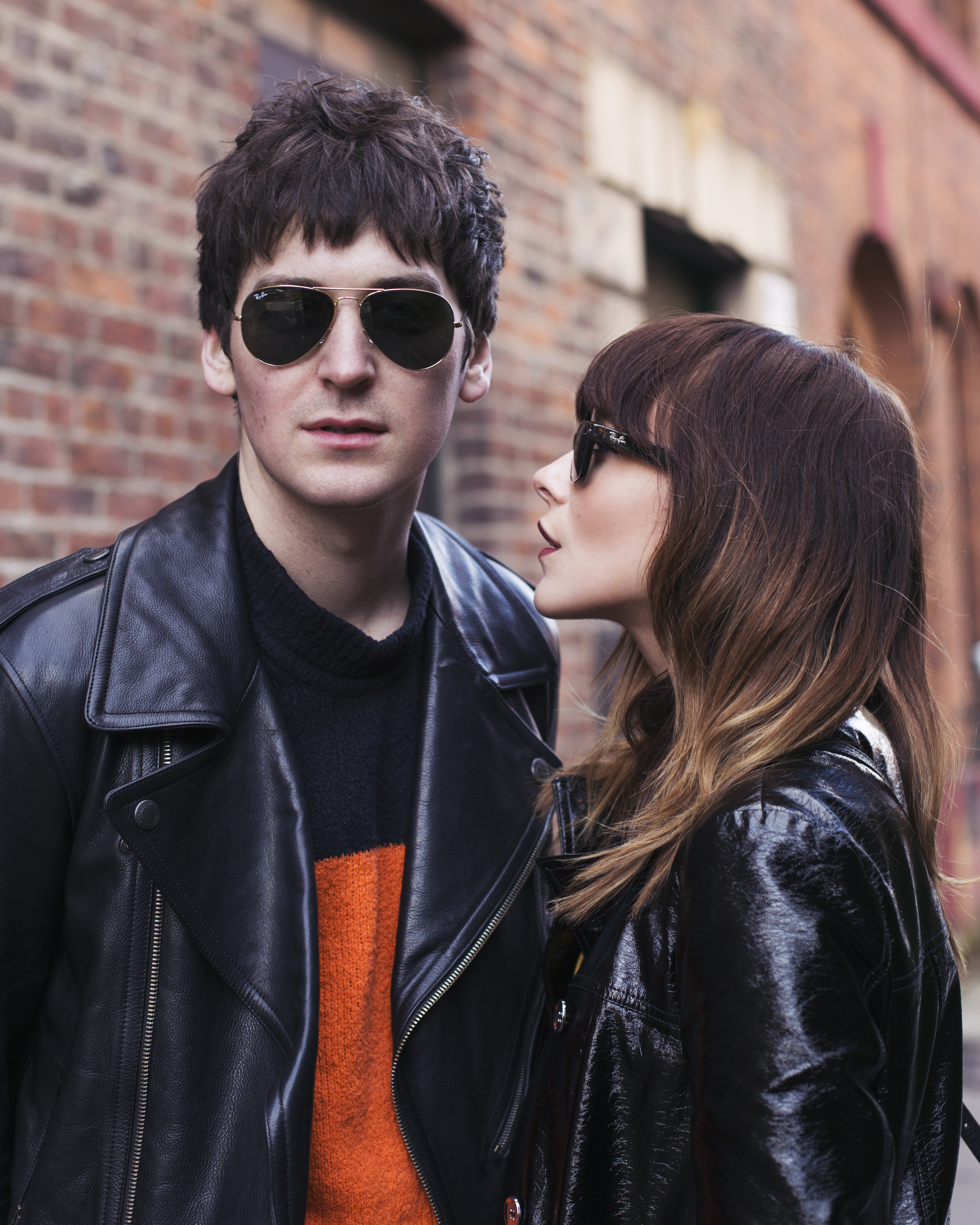 MEGAN ELLABY AND GEORGE CRAIG WEAR CLASSIC RAY BAN STYLE SUNGLASSES FOR SS17
