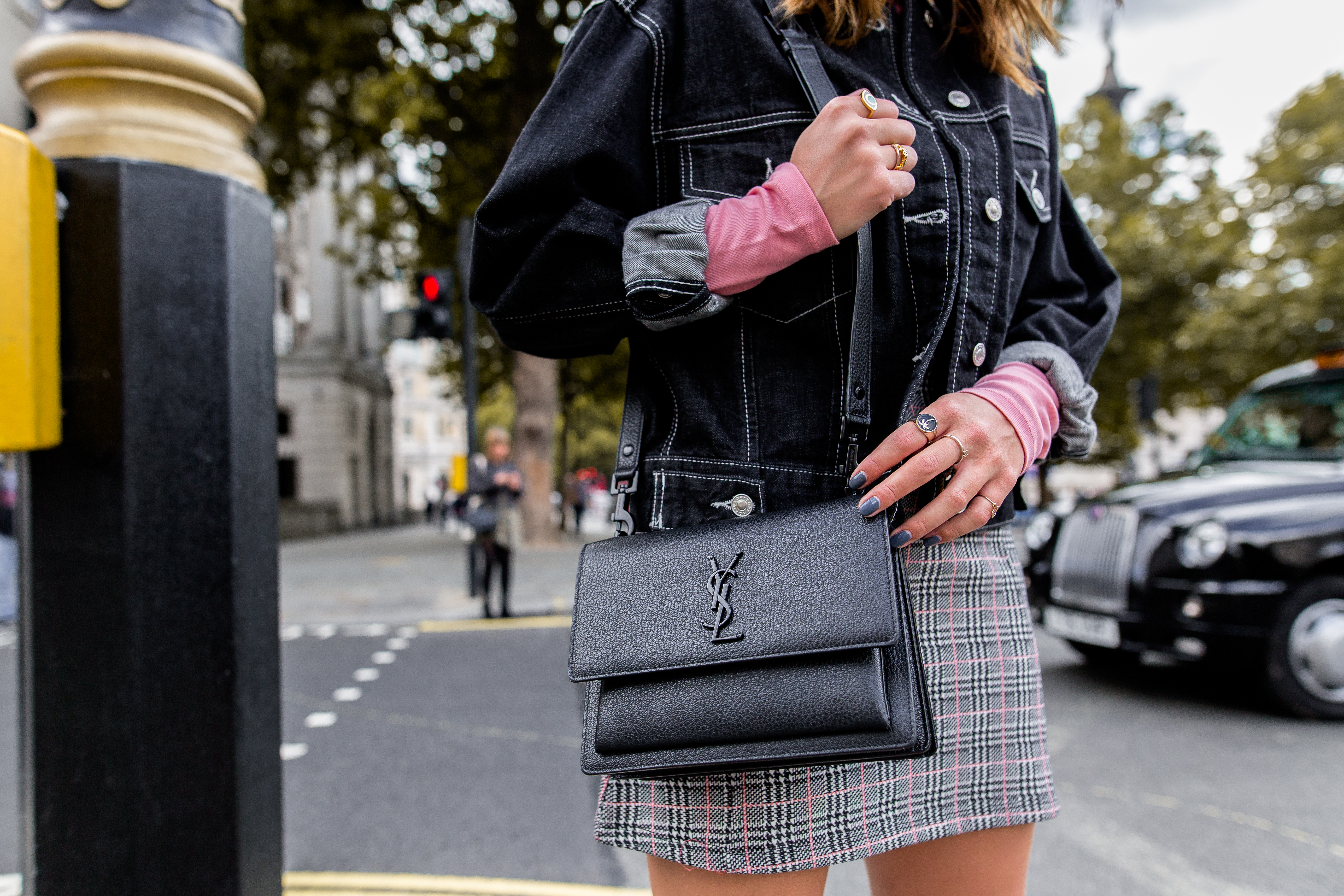 MEGAN ELLABY HOW TO STYLE THE SAINT LAURENT SUNSET BAG