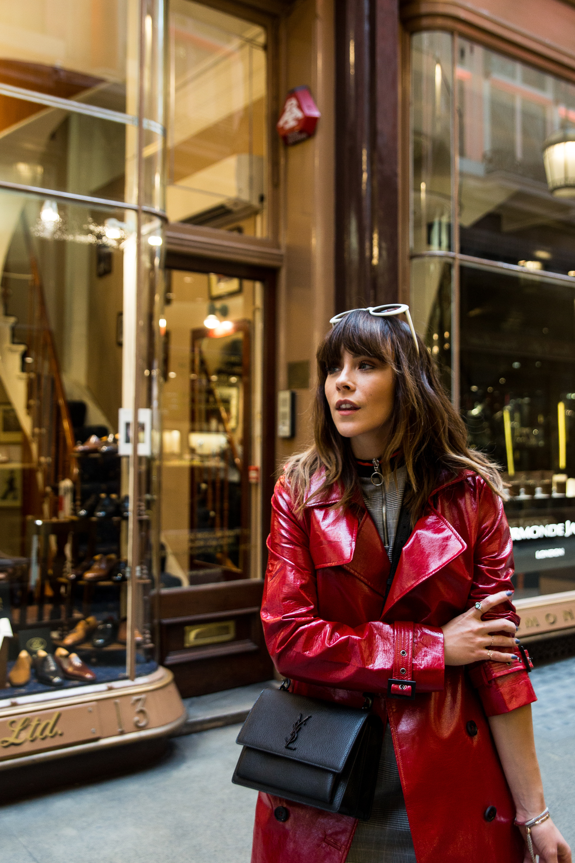 MEGAN ELLABY HOW TO WEAR A PVC TRENCH COAT