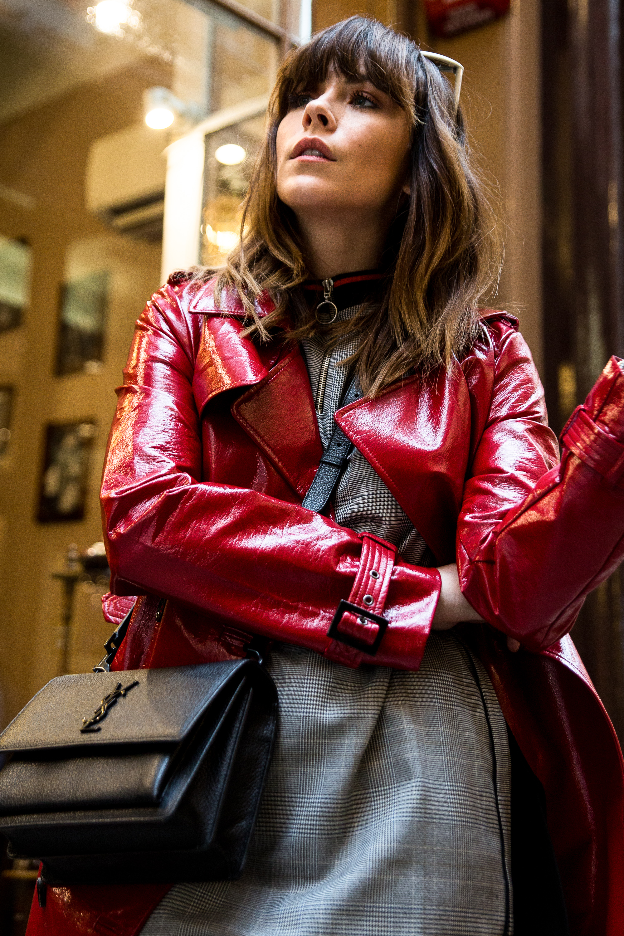 HOW TO WEAR RED PVC